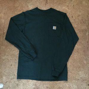 Carhartt Men's Green Long Sleeve Shirt Size Small